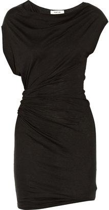 Helmut Lang Draped cotton and modal-blend jersey mini dress