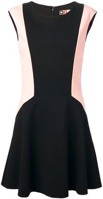 MSGM bi-colour flared dress