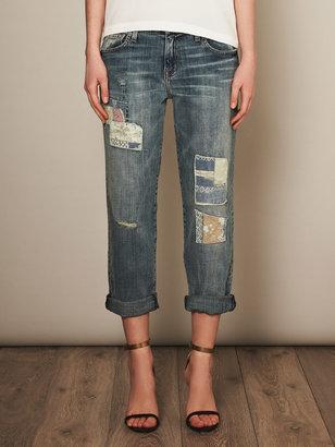 Current/Elliott Panhandle destroy low-rise boyfriend jeans