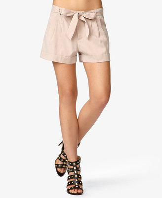 Forever 21 Pleated Shorts w/ Self-Tie Belt