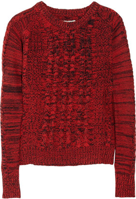 Aubin and Wills Mowden cable-knit wool sweater