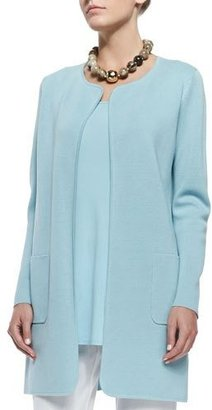 Eileen Fisher Silk Cotton Interlock Long Jacket, Capri $388 thestylecure.com