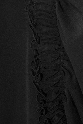 Givenchy Ruffled silk crepe de chine blouse