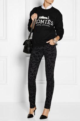 Faith Connexion Velvet-flocked low-rise skinny jeans
