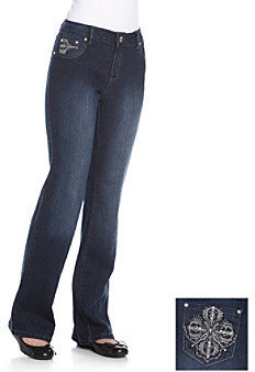 One 5 One® Reina Bootcut Bling Jean