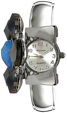JCPenney Blue Heart Black Stone Bangle Watch