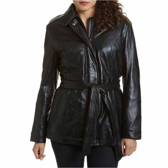 Excelled Leather Excelled Belted Hipster Jacket $450 thestylecure.com
