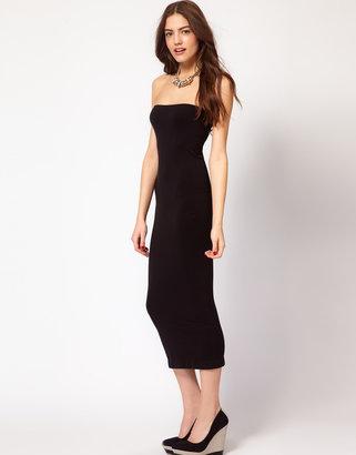 Vila Strapless Midi Dress