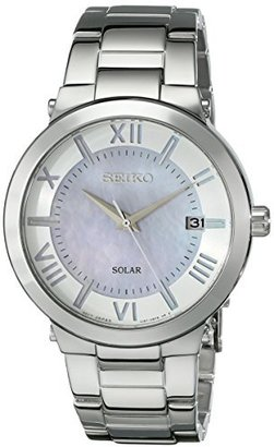 Seiko Women's SNE885 Stainless Steel Solar Power Watch $265 thestylecure.com