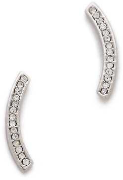Rebecca Minkoff Pave Curved Earrings
