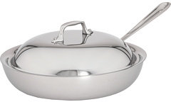 """All-Clad Stainless Steel 11"""" French Skillet With Domed Lid"""