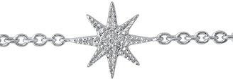 THE ALKEMISTRY 18ct White Gold And Diamond Mini Star Bracelet