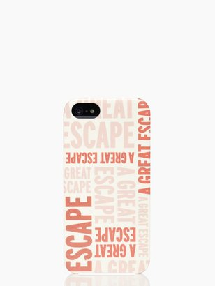 Kate Spade A great escape resin iphone 5 case
