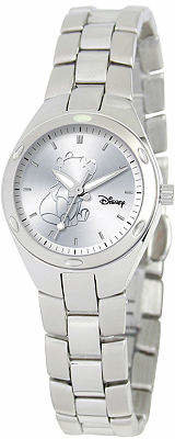 Disney Fortaleza Winnie the Pooh Womens Silver-Tone Watch Family