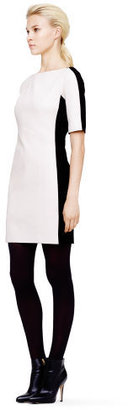 Club Monaco Violet Leather Sheath Dress