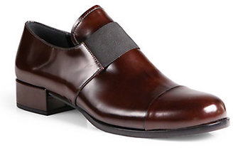 Prada Leather Banded Loafers