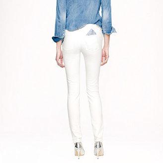 J.Crew Midrise toothpick jean in white