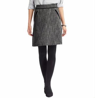 LOFT Drapey Tweed Boot Skirt
