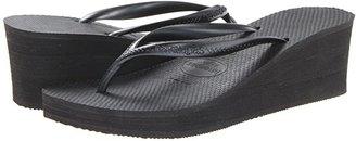 Havaianas High Fashion Flip Flops (Black) Women's Sandals