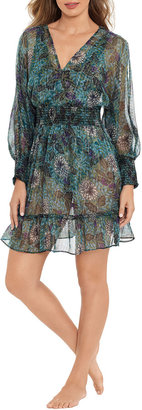 Amoressa by Miraclesuit Rhiannon Tango Floral Mini Beach Coverup Dress
