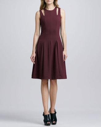 Rebecca Taylor Ponte Cutout-Shoulder Dress