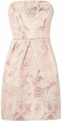 Untold Fifties style strapless dress with dropped hem