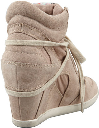 Ash Suede & Canvas Wedge Sneaker, Chamois