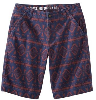 Mossimo Men's Flat Front Printed Shorts - Blue/Red Batik