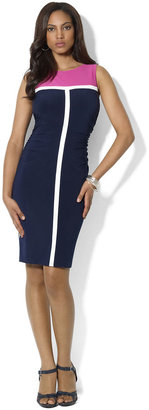 Lauren Ralph Lauren Sleeveless Color-Blocked Dress