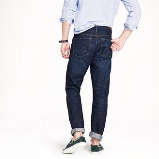 J.Crew Slim-straight selvedge jean in dark worn wash