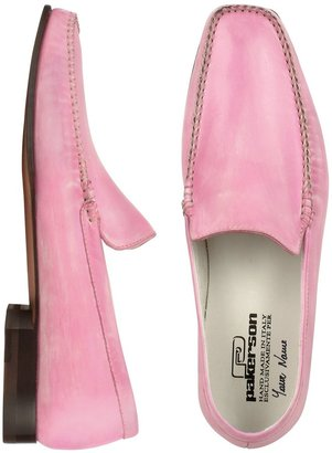 Pakerson Pink Italian Handmade Leather Loafer Shoes