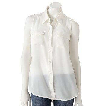 Apt. 9 solid crepe shirt
