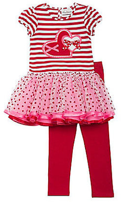 Rare Editions 2T-6X Mixed-Media Tutu Dress & Leggings Set