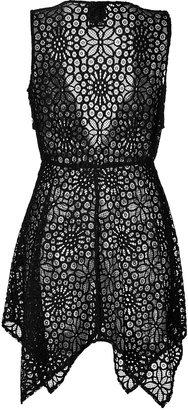 Anna Sui Sheer Crochet Lace Vest