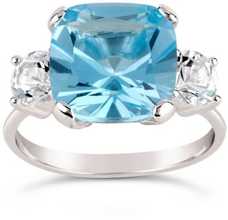 Dinny Hall Silver Teresa Blue And White Topaz Ring