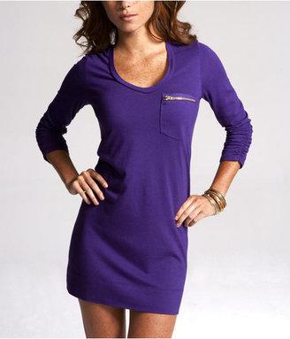 Express Zip Pocket Tee Dress