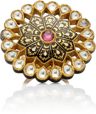 Madhuri Parson Mosaic 23K Yellow-Gold Cocktail Ring