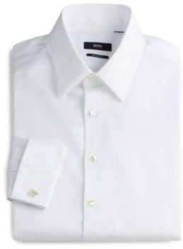 HUGO BOSS Sharp-Fit French Cuff Tuxedo Shirt