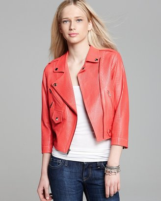 Rebecca Minkoff Jacket - Wes Perforated Leather Moto