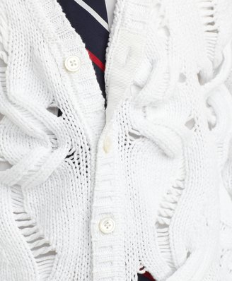 Brooks Brothers Cable Pointelle Cardigan