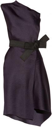 Lanvin One-shoulder duchesse-satin dress