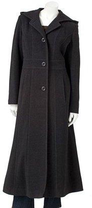 Bromley hooded long wool coat