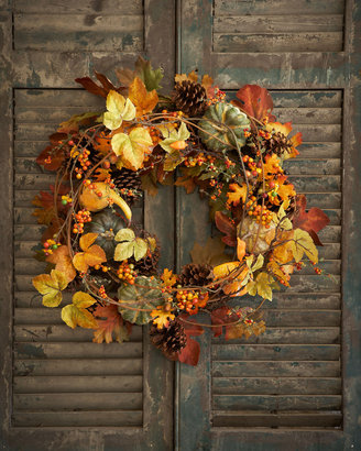 """Horchow Park Hill Collections 28"""" Bountiful Harvest Wreath"""