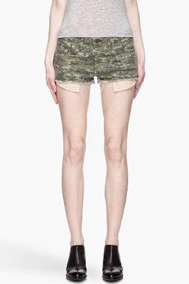 Rag and Bone RAG & BONE Green pixellated camo The Mila Shorts