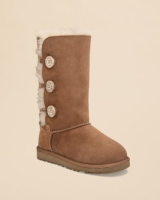 UGG Girls' Bailey Button Triplet Boots - Little Kid, Big Kid