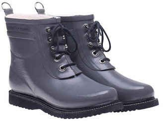 Ilse Jacobsen Hornbaek Lace Up Rainboot Short Gray