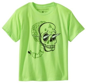 Ocean Current Boys 8-20 Skull Face Short Sleeve Crew