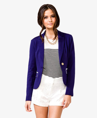 Forever 21 Single-Button Colorblocked Blazer