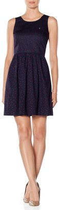 The Limited Dot Fit and Flare Dress