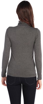 Majestic Long Sleeve Basic Turtleneck